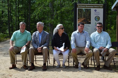 From L to R: Skip Skaggs, Commissioner Mike Tagert, Martha Dalrymple, Rory Thornton, Mayor Brad Blalock