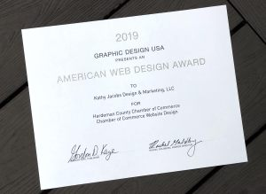 2019 Graphic Design USA American Web Design Award