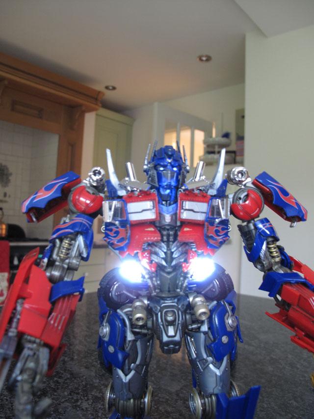 Optimus lit up