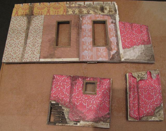 Bordello interior wall staining
