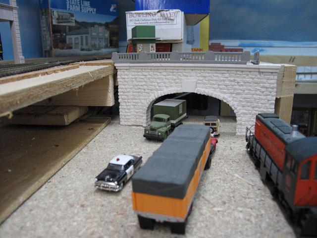 Road tunnel portal
