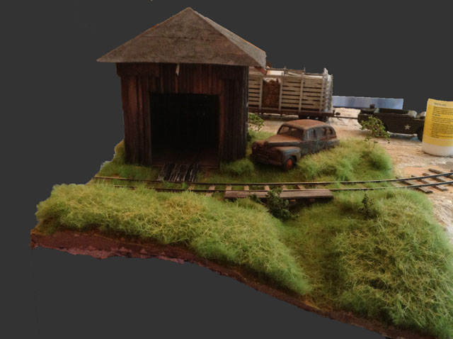 Hand car shed scenery