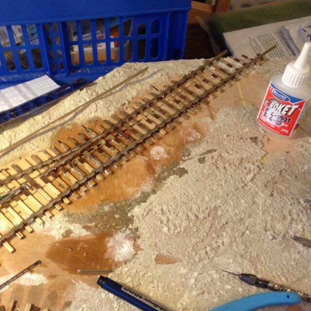 Glue puddle