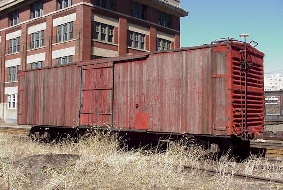 Old wood box car