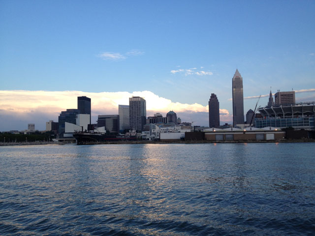 Cleveland from the water