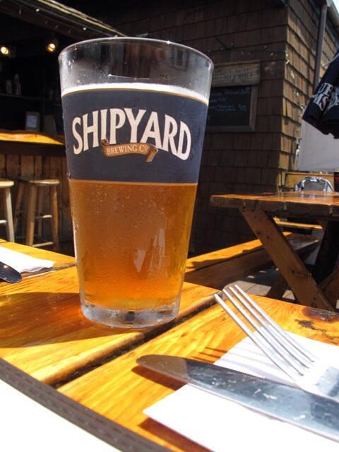 A pint of Shipyard