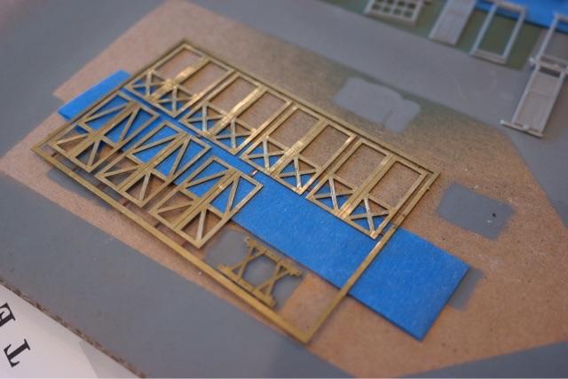 Etched brass door trim