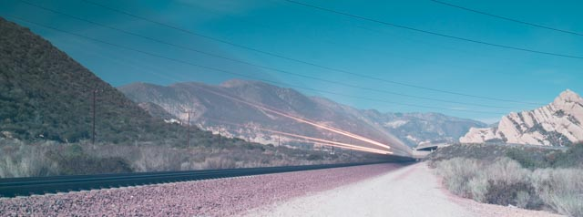 Train blast past
