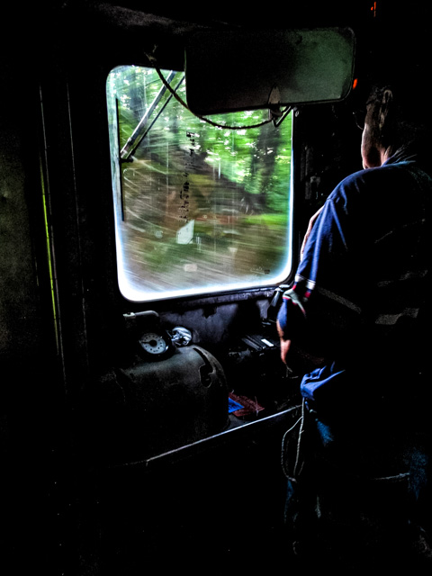 Cuyahoga Scenic Valley Railroad - Budd car driver