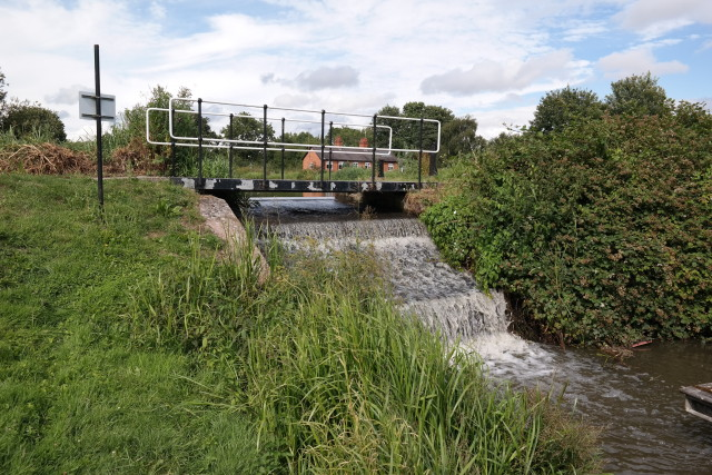 Weir and canal in the UK