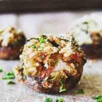 Vegan Baby Portobello Mushroom Bites