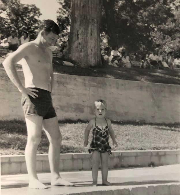 Me and Dad at Barton Springs in Austin, TX, 1961