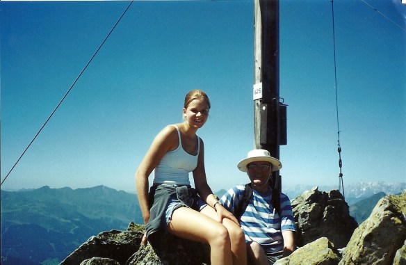 Hiking in the Alps, circa 2001