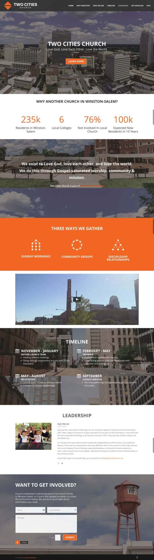 Two Cities Church - Churches Using Divi