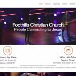 Foothills Christian Church-Churches using the Divi Wordpress Theme