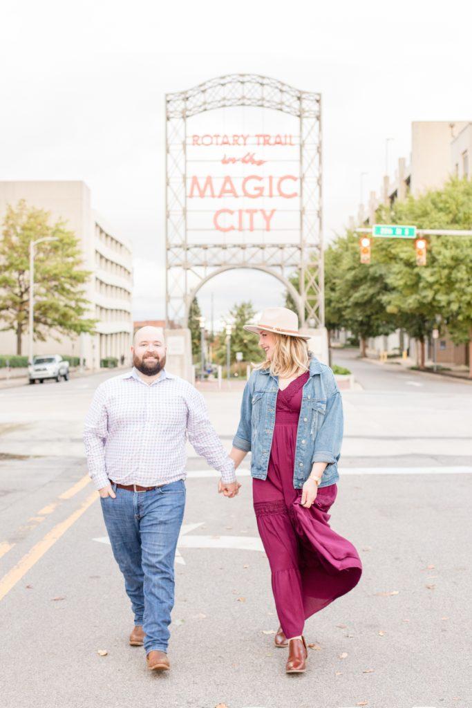 Tour of Birmingham Engagement Session - Katie & Alec Photography Birmingham, Alabama wedding photographers
