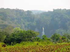 Lwiro waterfalls from a distance