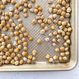 Dry-roasted chickpeas.