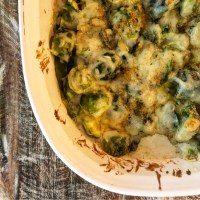 Decadent Brussels Sprouts Gratin