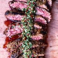 Marinated Flank Steak With Classic Chimichurri