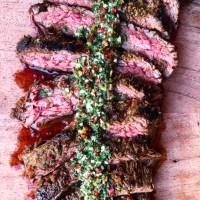 Marinated Flank Steak With Classic Chimichurri