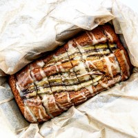 Brown Butter, Brown Sugar Banana Bread With Maple Glaze