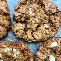 Brown Butter Oatmeal White Chocolate Cookies