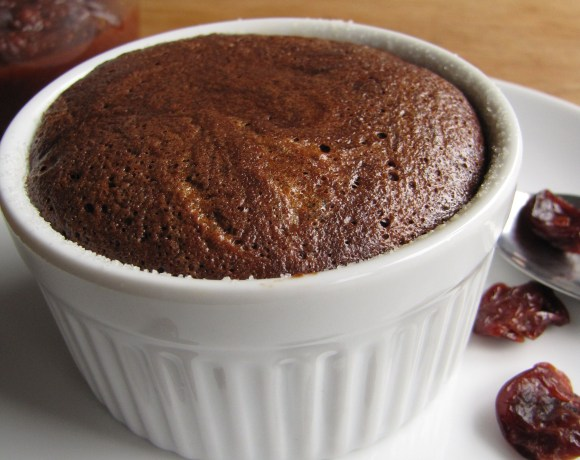 RD #3 – Spicy Cherry-Chocolate Souffles