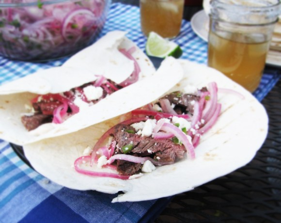 Tequila and Lime Skirt Steak Tacos