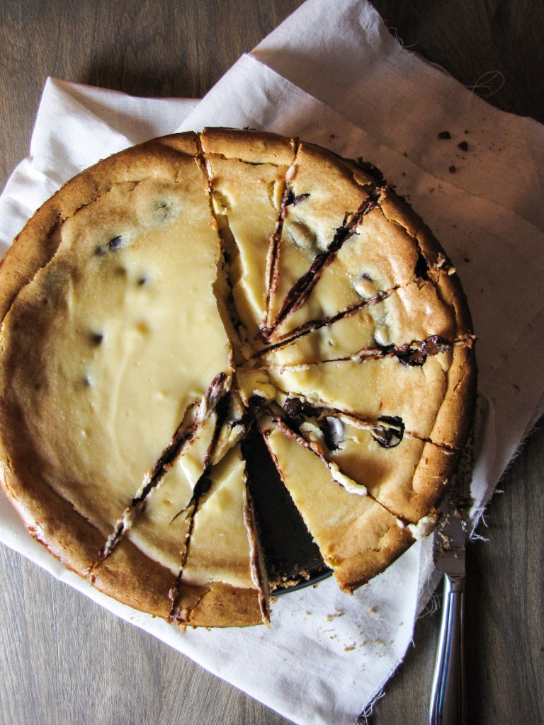 Bailey's Chocolate Chip Cheesecake {Katie at the Kitchen Door}