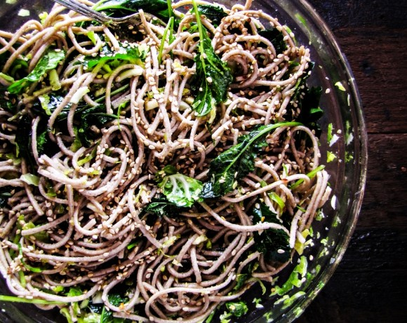 Book Club: Vegetable Literacy // Soba Noodles with Kale, Sesame, and Slivered Brussels Sprouts