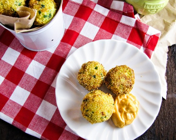 Broccoli-Cheddar Hushpuppies