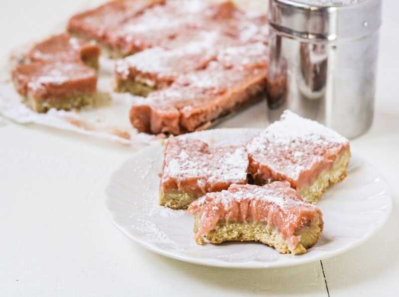 Rhubarb Ginger Bars {Katie at the Kitchen Door}