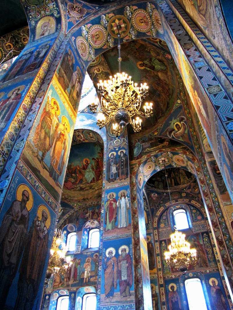 Mosaics inside the Church of Our Savior on Spilled Blood, St. Peterburg, Russia