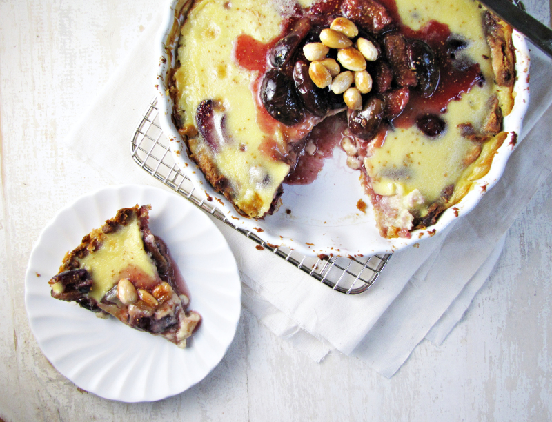 15 Favorite Fall Recipes - Fig and Almond Custard Tart
