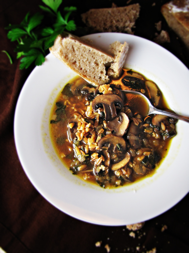 15 Favorite Fall Recipes - Mushroom and Farro Soup