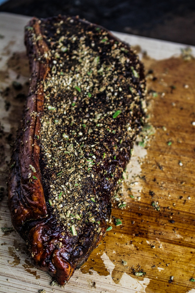 Grass-Fed Strip Steaks with Porcini and Rosemary Rub {Katie at the Kitchen Door}