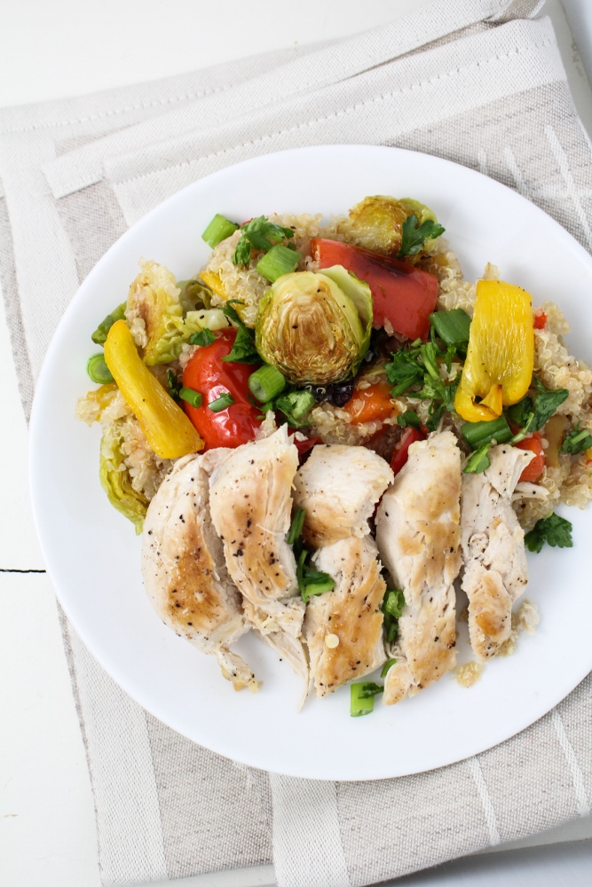 Relished Foods Meal Delivery Review - Pan-Roasted Chicken with Quinoa and Veggie Salad {Katie at the Kitchen Door}
