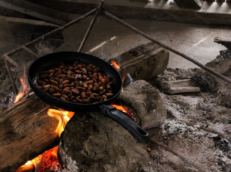 Ecuador Travelogue: The Amazon - Roasting Cacao Beans {Katie at the Kitchen Door}
