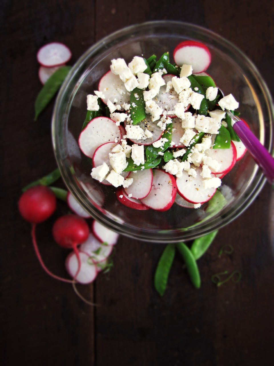 13 Recipes for Spring - Snap Pea and Radish Salad {Katie at the Kitchen Door}