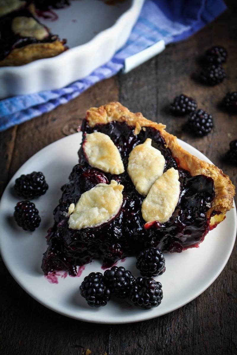 Maple Mixed Berry Pie {Katie at the Kitchen Door}