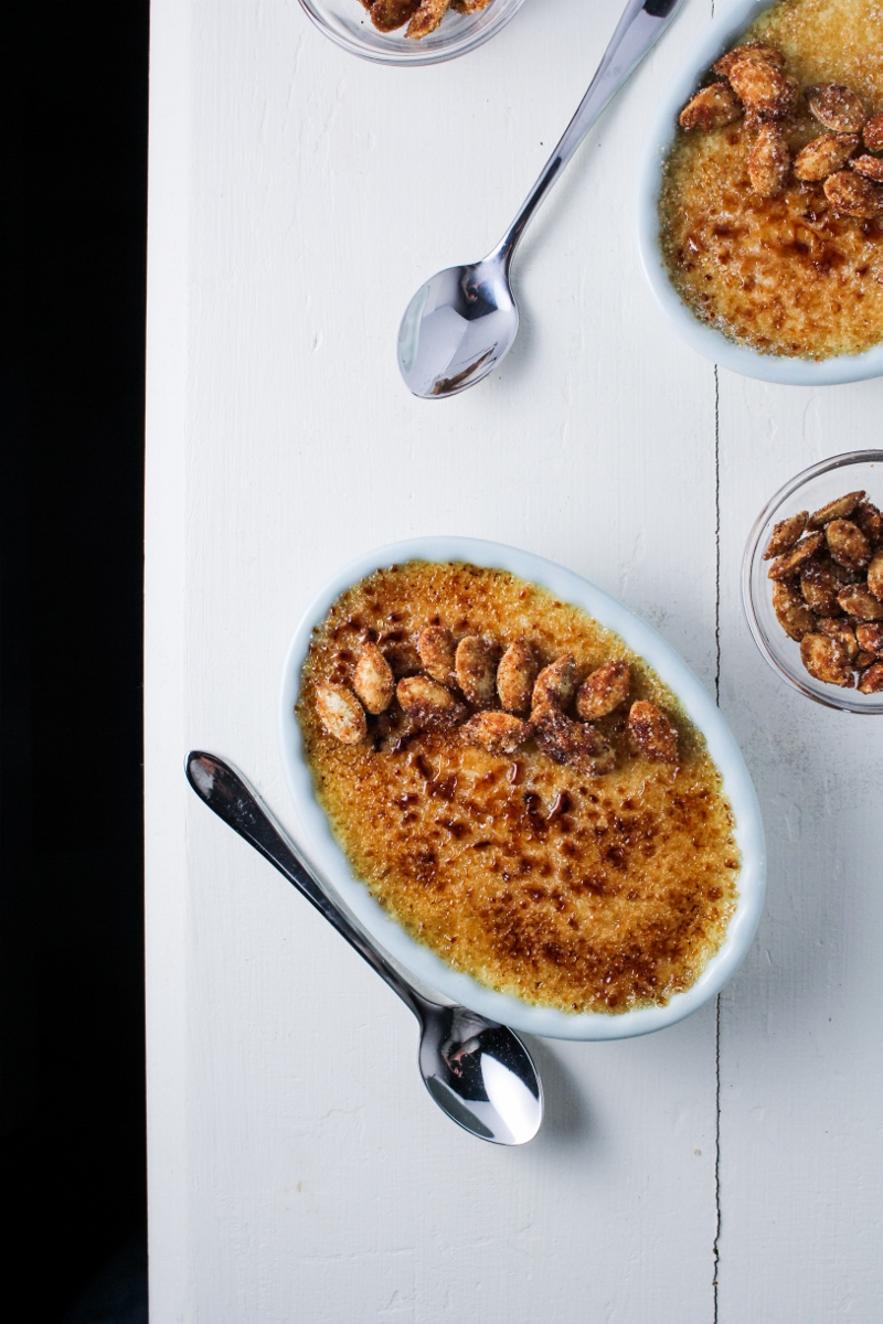 Pumpkin Creme Brulee with Garam Masala Pumpkin Seeds {Katie at the Kitchen Door}