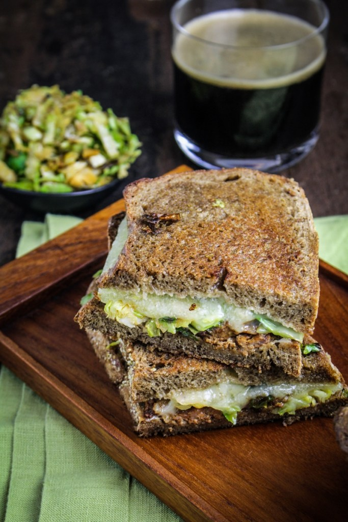 Brussels Sprout and Chorizo Grilled Cheese {Katie at the Kitchen Door}
