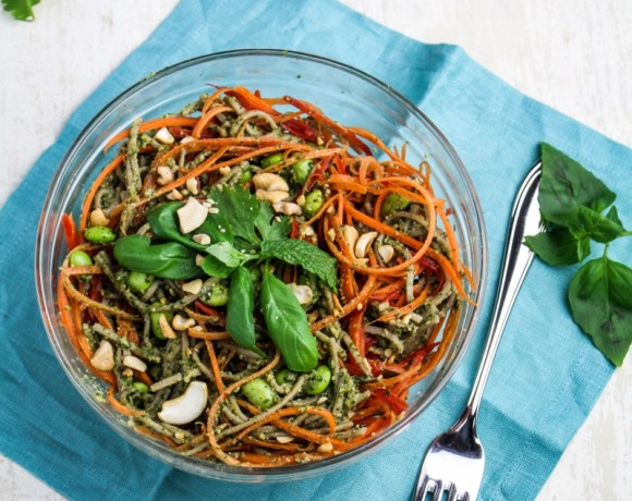 Clean Eating: Soba Noodles with Asian Pesto