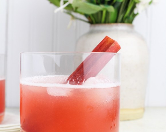 Rhubarb Bourbon Sour