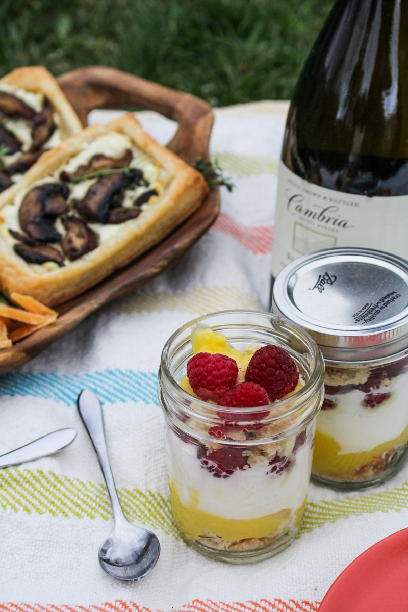 Mini Lemon Curd Trifles - Mother's Day Picnic {Katie at the Kitchen Door}