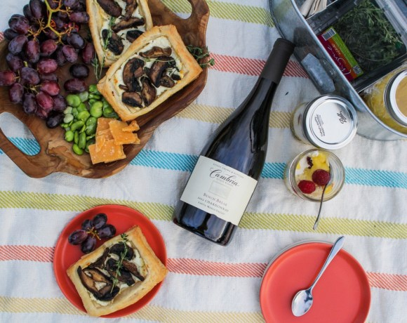 Mother's Day Picnic // Mushroom Savory Squares, Lemon Curd Trifles, and Chardonnay