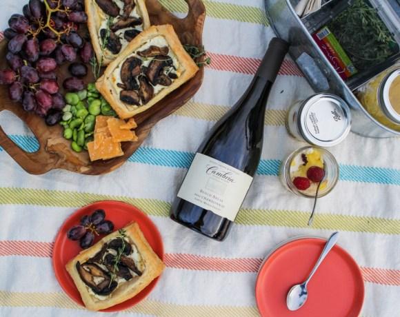 Mother's Day Picnic // Mushroom Savory Squares, Lemon Curd Trifles, and Chardonnay