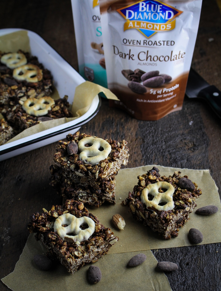 Chocolate Almond Granola Bites {Katie at the Kitchen Door}