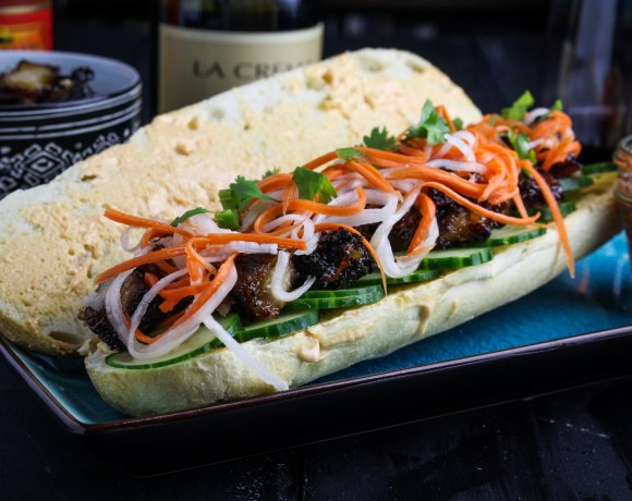La Crema Pork and Pinot #3: Pork Belly Banh Mi Sandwiches